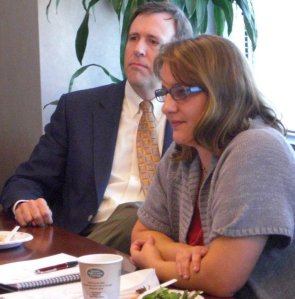 Cal Watson and Lisa Potts participate in Staffed Programs Discussion