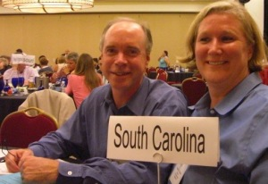 Judge Michael Baxley and Robin Wheeler at the Court Solutions Conference