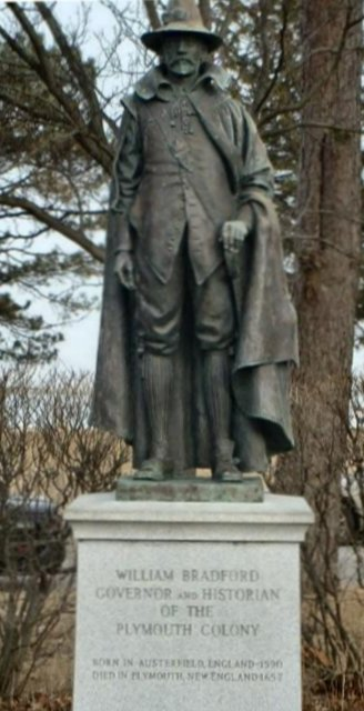 Statue of Pilgrim William Bradford
