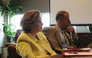 Louise Cooper of the SC GAL program and Hugh Ryan of SC Commission on Indigent Defense