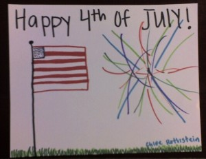 Happy 4th of July by guest artist Chloe Rothstein!
