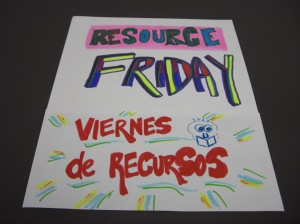 Resource Friday/Viernes de Recursos